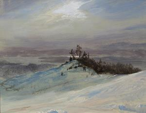 Winter on the Hudson River near Castskill, New York