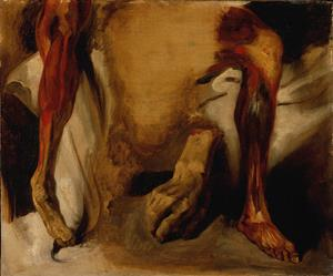 A Severed Hand and Two Ecorchés of a Leg